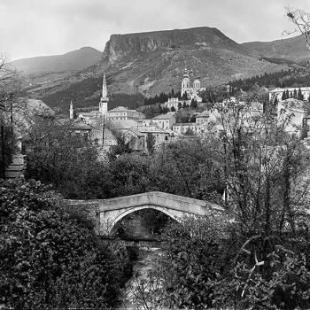 Kriva Cuprija Bridge in Mostar, Bosnia, 1970
